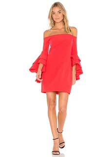 MILLY Selena Ruffle Dress in Red. - size 0 (also in 2,4,6)
