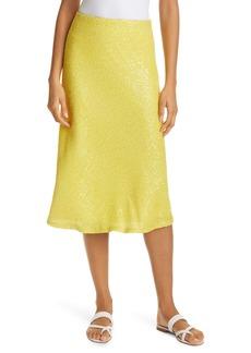 Milly Sequin Bias Cut Skirt