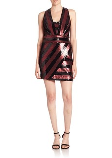 Milly Sequin Striped Dress