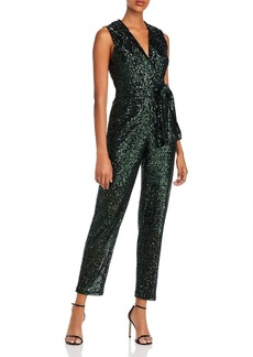 MILLY Sequin Tie-Waist Jumpsuit