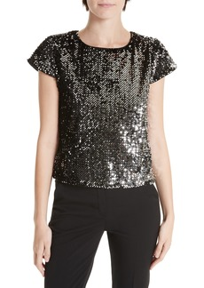 Milly Sequin Velvet Baby Tee