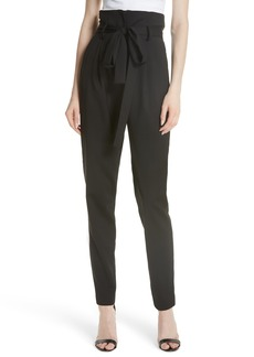 Milly Sevilla Gathered Stretch Wool Pants