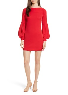Milly Shana Stretch Silk Bishop Sleeve Dress