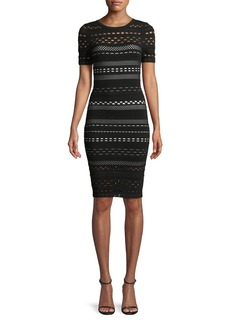 Milly Sheath Dress with Lace Cutouts