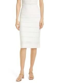 Milly Sheer Stripe Skirt