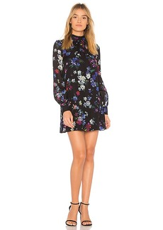 MILLY Sherie Painted Floral Dress in Black. - size 0 (also in 2,4,6)