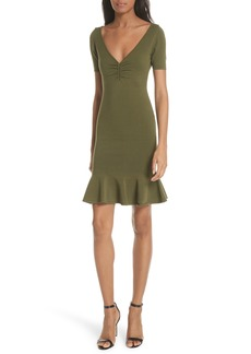Milly Shirred Front Knit Dress