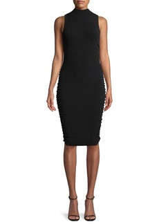 Milly Shirred-Side Sheath Dress