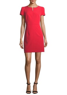 Milly Short Pouf Sleeve Italian Cady Dress