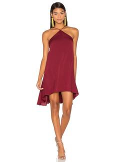 MILLY Silk Cascade Halter Dress