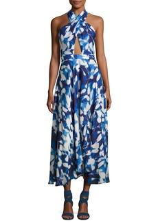 Milly Silk Chiffon Petal Midi Dress