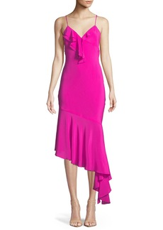 Milly Sleeveless Asymmetric Petal Slip Dress