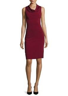 Milly Sleeveless Cowl-Neck Sheath Dress