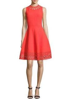 Milly Sleeveless Cutout Swing Dress