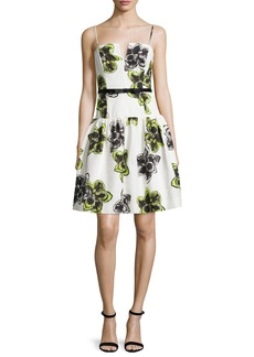 Milly Sleeveless Dropped-Waist Party Dress