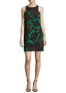 Milly Sleeveless Floral-Print Cady Minidress