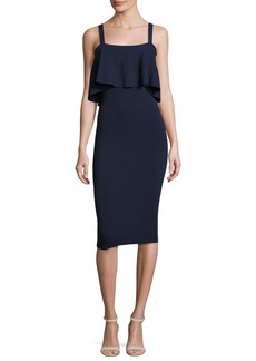 Milly Sleeveless Flounce Sheath Dress