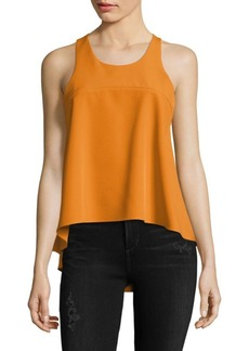 Milly Sleeveless Hi-Lo Peplum Top