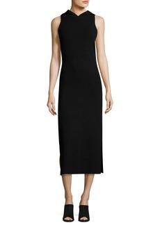 Milly Sleeveless Hooded Midi Sheath Dress