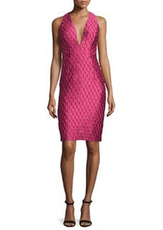 Milly Sleeveless Jacquard Cocktail Dress