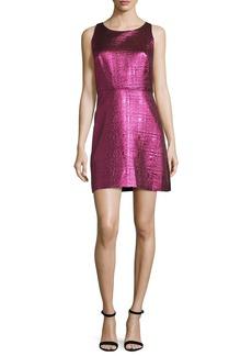 Milly Sleeveless Lurex® Jacquard A-Line Dress