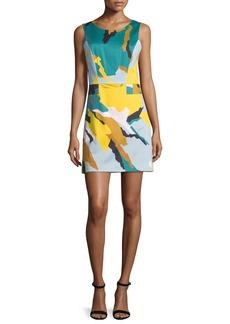 Milly Sleeveless Modern Camo-Print Dress