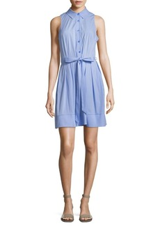 Milly Sleeveless Pleated Shirt Dress
