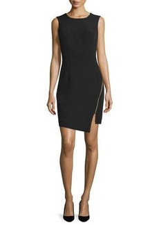 Milly Sleeveless Split-Hem Sheath Dress