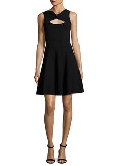 Milly Sleeveless Twist Fit-&-Flare Dress