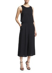 Milly Sleeveless Wide-Leg Cropped Jumpsuit