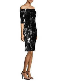 Milly Slim Off-The-Shoulder Dress