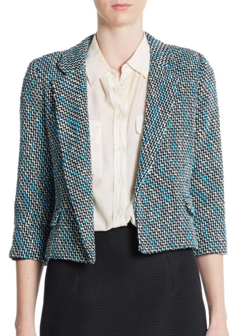 MILLY Slub Tweed Jacket