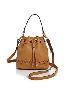 MILLY Small Astor Whipstitch Drawstring Bucket Bag