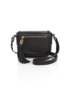 MILLY Small Astor Whipstitch Saddle Bag