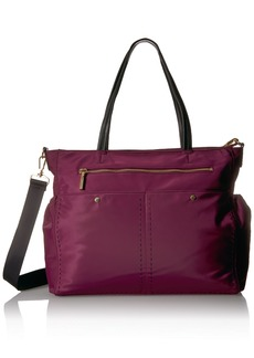 MILLY Sold Stitch Diaper Bag burgundy