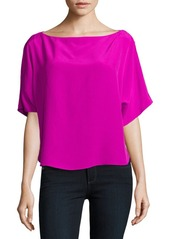 MILLY Solid Dolman Top