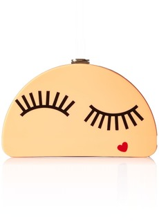 MILLY Solid Eyelash 1/2 Moon Clutch