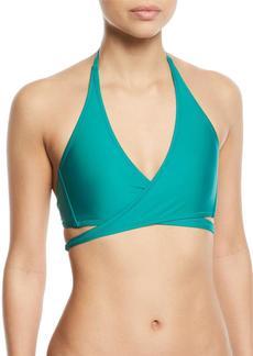 Milly Solid Wraparound Halter Bikini Swim Top