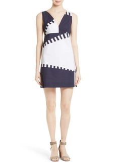 Milly Spinnaker Stretch Cotton Shift Dress