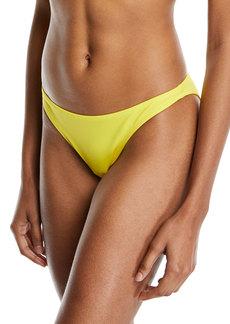 Milly St. Lucia Solid Swim Bikini Bottom  Yellow
