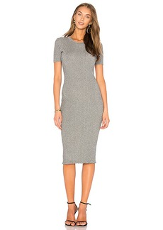 MILLY Stardust Rib Dress in Metallic Silver. - size L (also in M,S,XS)