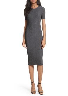 Milly Stardust Rib Knit Sheath Dress
