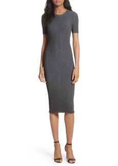 Milly Stardust Rib Knit Sheath Dress