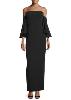 Milly Strapless Off-the-Shoulder Column Gown