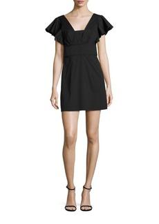 MILLY Stretch Cotton Poplin Deni Dress