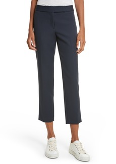Milly Stretch Crepe Cigarette Pants