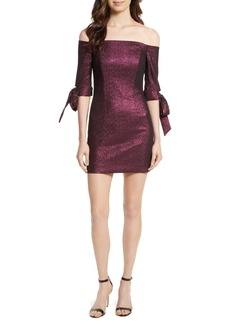 Milly Stretch Metallic Minidress