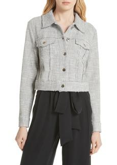 Milly Stretch Tweed Jacket