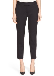 Milly Stretch Wool Skinny Ankle Pants