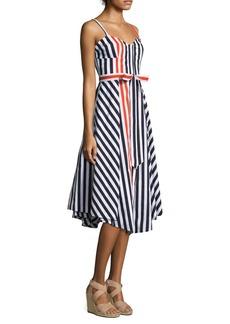 Milly Stripe Bustier Midi Dress